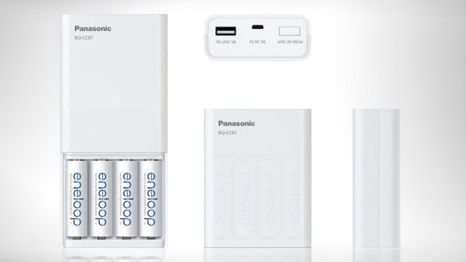 Batterie ricaricabili con powerbank Panasonic eneloop