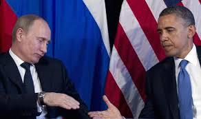 Putin and Obama shake hands