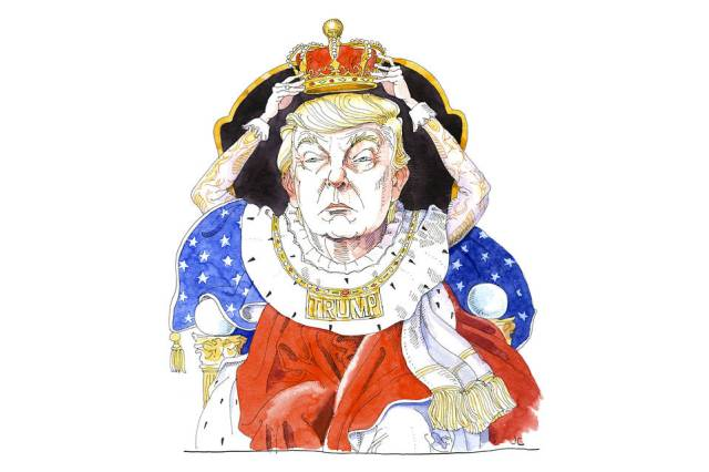 King Trump, Illustration: Joe Ciardiello, WSJ