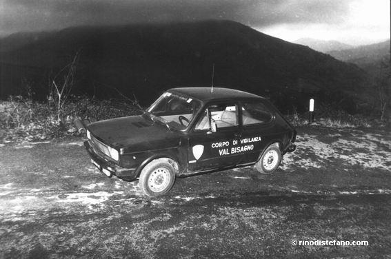 La Fiat 127, in dotazione a Zanfretta, sul posto del secondo incontro con presunti alieni