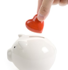 Piggy Bank and Red Heart