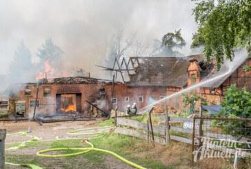 Update: Bauernhof-Großbrand in Eisbergen / 90 Feuerwehrleute im Einsatz