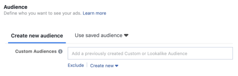 Audiences in Facebook