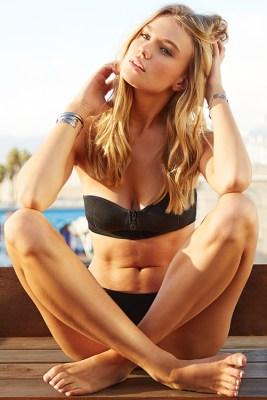 Black Neoprene Bustier Bikini ALT IMAGE
