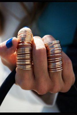 Kami Lerner Gold Full Finger Wrap Ring ALT