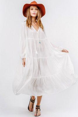 Belladonna Tiered Tea Length Dress