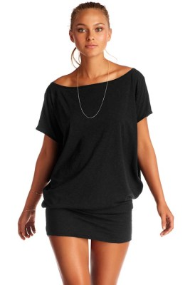 EcoCotton Black Isla Tunic