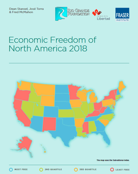 Economic Freedom up slightly across U.S.; New Mexico moves up to 42nd in North American index