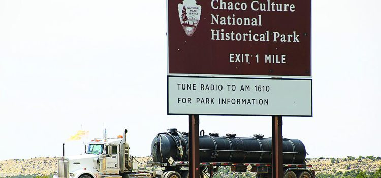 photo of chaco canyon national park entrance for sierra club article on oil drilling in nearby communities