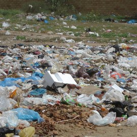 Photo of plastic bags as trash for the Sierra Club Rio Grande Chapter website