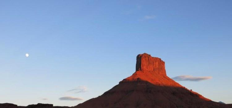 Photo of Fisher Tower, Moab Utah, RedRock, for Sierra Club Rio Grande Chapter website