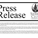 image of press release