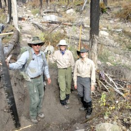 Volunteering on the Trails at Bandelier