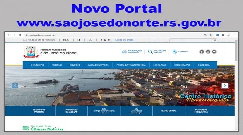 Prefeitura Municipal de São José do Norte lança novo portal visando melhorar a interação com os cidadãos