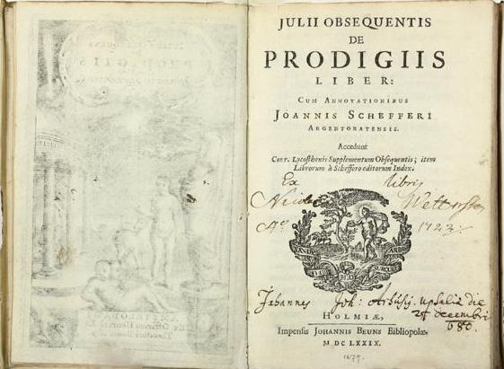 Prodigious History: On Julius Obsequens' <i>Liber Prodigiorum</i>