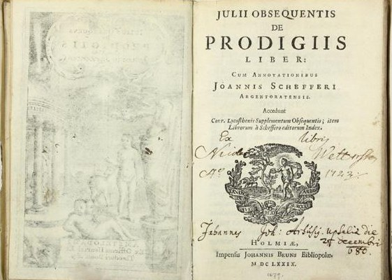 Prodigious History: On Julius Obsequens' <i>Liber Prodigiorum</i>