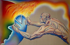 Judy Chicago's <i>PowerPlay: A Prediction</i>