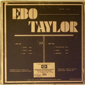 "From Ebo Taylor & The Pelikans, The Wonderful ""Come Along"""