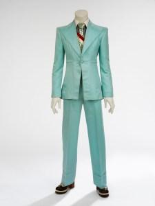 David Bowie, Ice-blue suit, 1972.