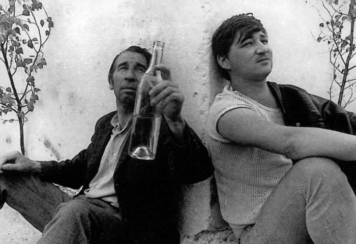 Johannes Buzalski and Rainer Werner Fassbinder in Baal