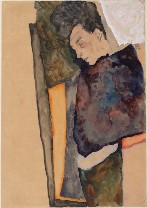 Egon Schiele:The Artist's Mother, Sleeping, 1911