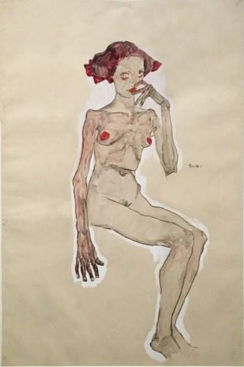Egon Schiele, Seated Nude Girl, 1910