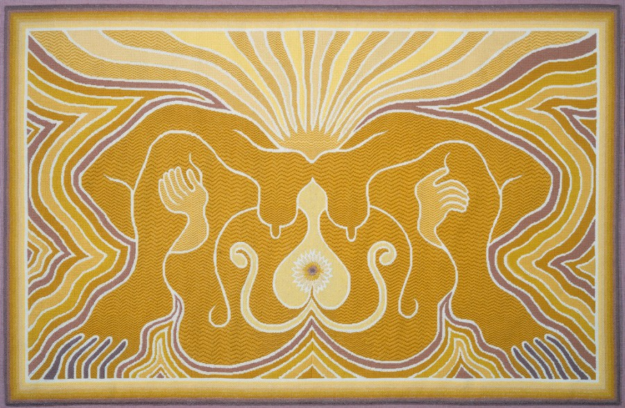 Judy Chicago, The Crowning Needlepoint 3