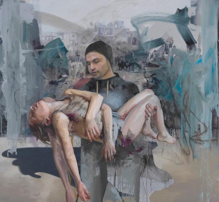 Jenny Saville, Blue Pieta