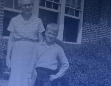 David Lynch with his school teacher.