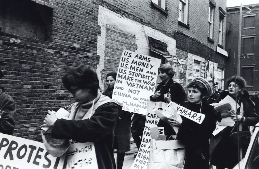 Fred W. McDarrah: Short-story writer, poet, and antiwar activist Grace Paley is demonstrating against the Vietnam War, March 15, 1965