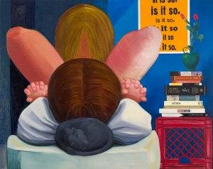 "Nicole Eisenman's ""It Is So"" 2014 (oil on canvas, 65"" × 82"")"