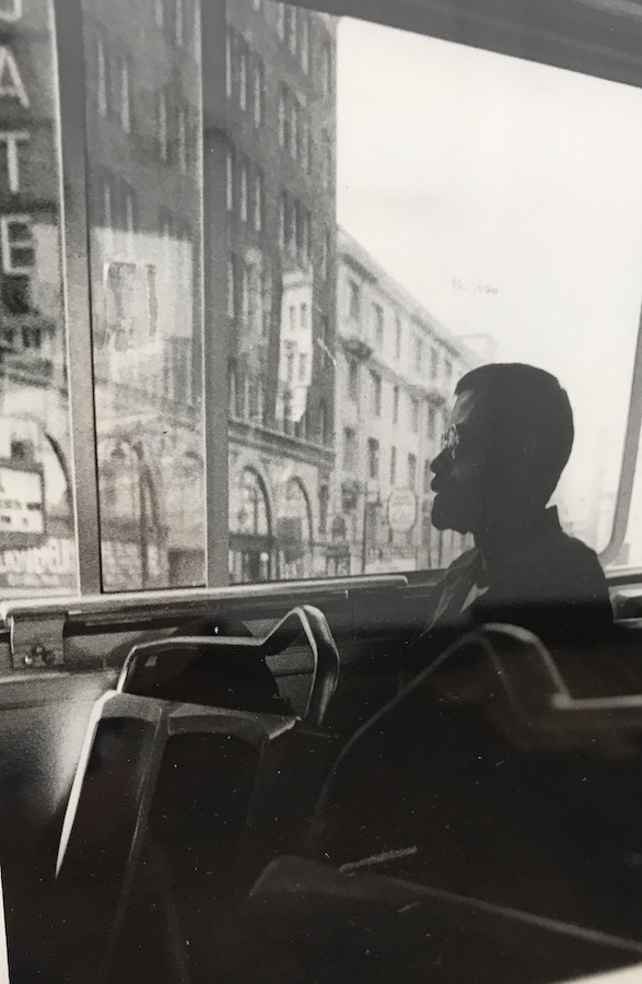 "Juri Koll, ""Man on Bus Looking Left"""