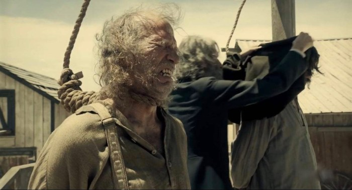 "Martin Palmer as the ""Blubberer"" in The Ballad of Buster Scruggs"
