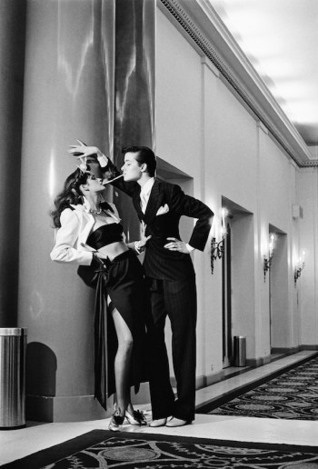 Helmut Newton, Woman into man, Paris, 1979