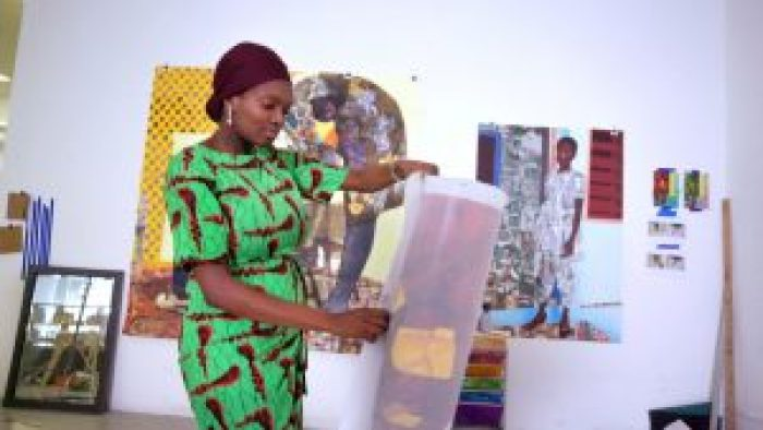 Artist Njideka Akunyili Crosby, in the Price of Everything (2018)