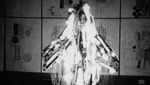 Atsuko Tanaka wearing Electric Dress 1956