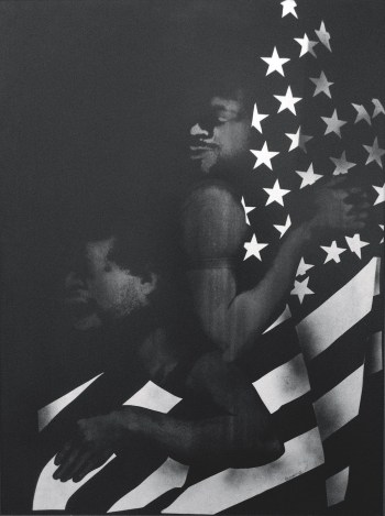 David Hammons' Black First America Second, 1970