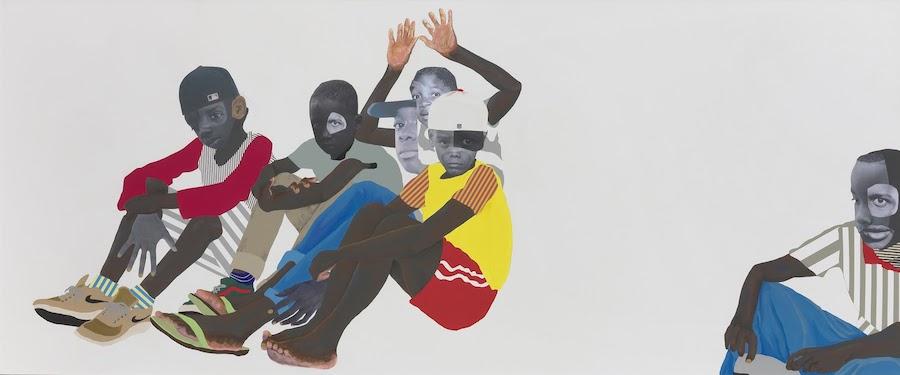 Deborah Roberts' Native Sons: Many thousands gone, at Susanne Vielmetter Los Angeles, is reviewed at Riot Material, LA's premier art magazine