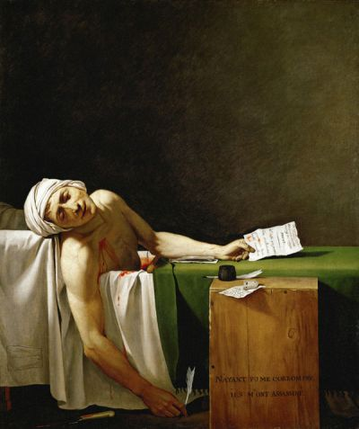 Jacques-Louis David, Death of Marat. 1793