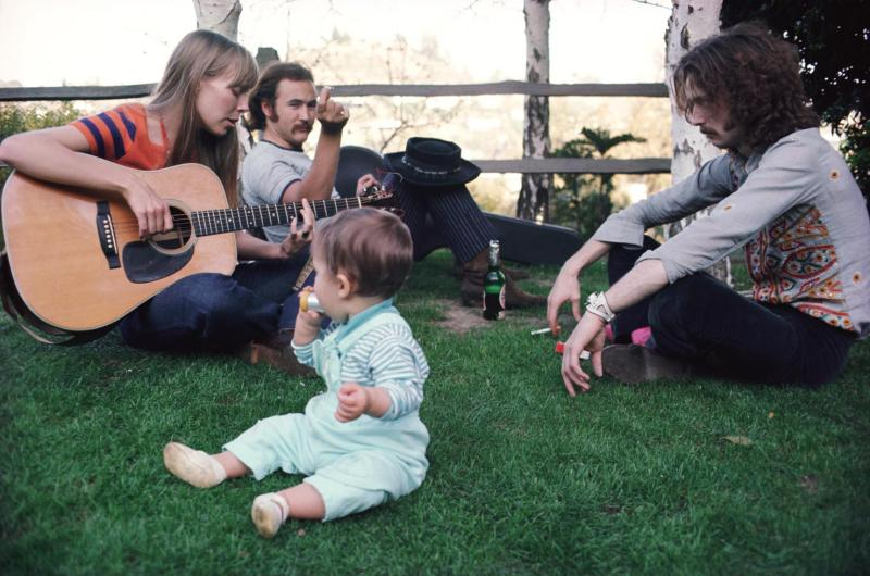 David Crosby, Joni Mitchell and Eric Clapton. An interview with Crosby is at Riot Material magazine.