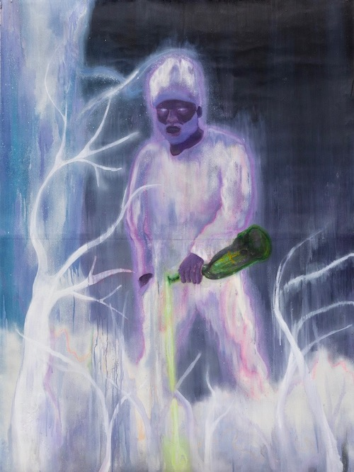 Sedrick Chisom, ...Meanwhile a Young God Pours Life On The Planet Kemetopia, 2019. Reviewed at Riot Material Magazine.