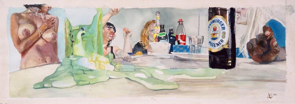 """Austin Stiegemeier, """"Birthday Boy."""" An interview with Stiegemeier is at Riot Material, LA's premier art magazine."""