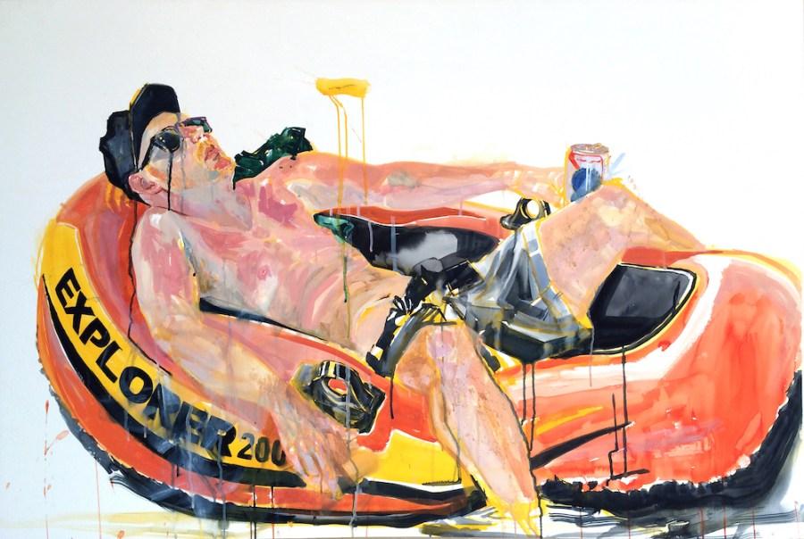 """Austin Stiegemeier, """"Travis in Explorer 200."""" An interview with Stiegemeier is at Riot Material, LA's premier art magazine."""