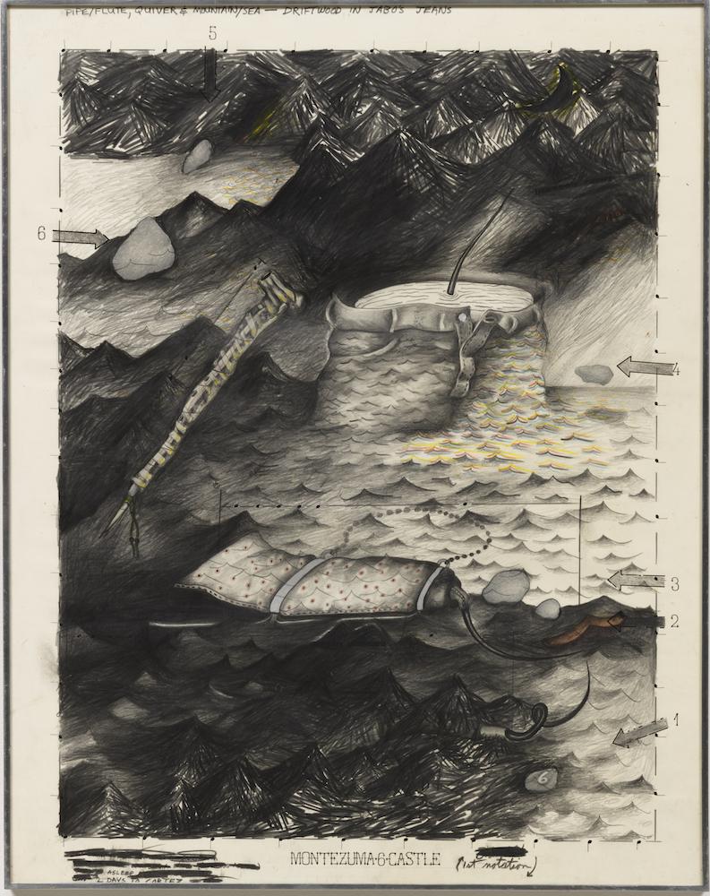 Terry Allen's Montezuma 6 Castle (Juarez), at Riot Material, LA's premier art magazine.