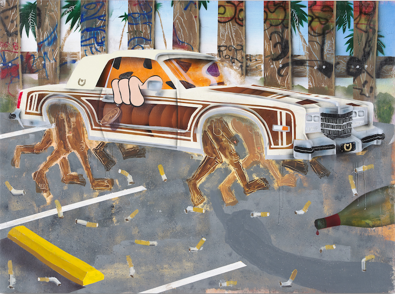 Artist Pat Phillip in Punch, at Jeffrey Deitch, Los Angeles. Reviewed at Riot Material magazine.