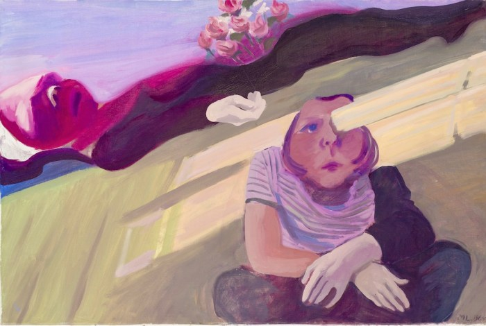 Maria Lassnig's Beam in The Eye/Mourning Hands. At Riot Material, LA's premier magazine for art.