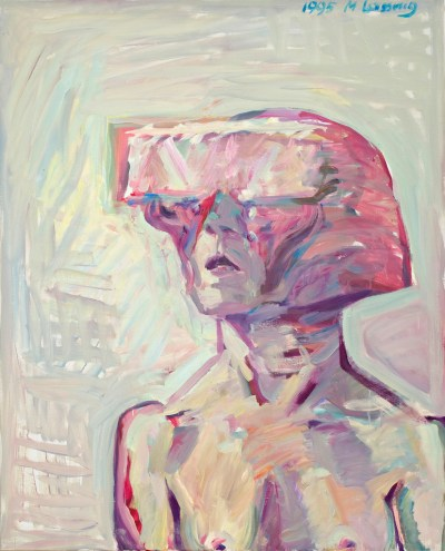 Maria Lassnig's Small Science Fiction Self Portrait. At Riot Material, LA's premier magazine for art.