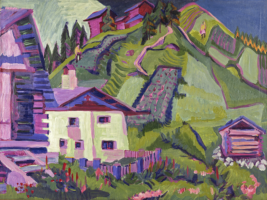 Ernst Ludwig Kirchner, White House in Sertig Valley, 1926. A review of Kirchner's exhibition at Neue Museum, NYC, is at Riot Material, LA's premier art magazine.