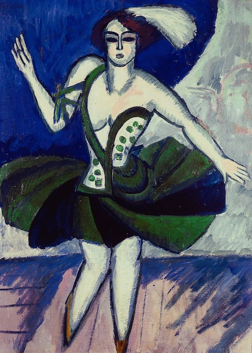 Ernst Ludwig Kirchner, The Russian Dancer Mela, 1911. A review of Kirchner's exhibition at Neue Museum, NYC, is at Riot Material, LA's premier art magazine.