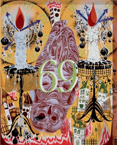 Lari Pittman, Transfigurative and Needy, 1991.